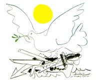 Dove of peace - sun